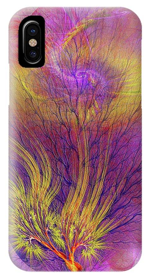 Burning Bush IPhone X Case featuring the digital art Burning Bush by John Beck