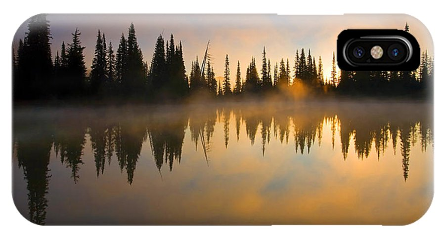 Lake IPhone Case featuring the photograph Burning Dawn by Mike Dawson