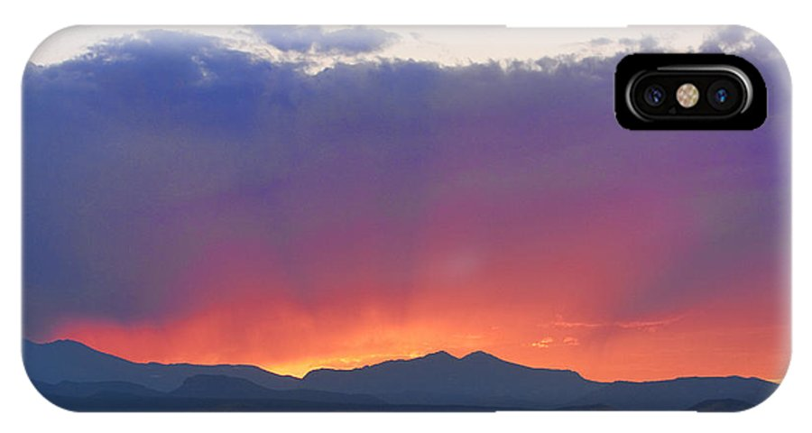 Sunsets IPhone X Case featuring the photograph Burning Rays Of Sunset by James BO Insogna
