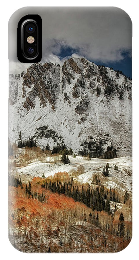 Usa IPhone X Case featuring the photograph Burnt Orange by Mitch Johanson