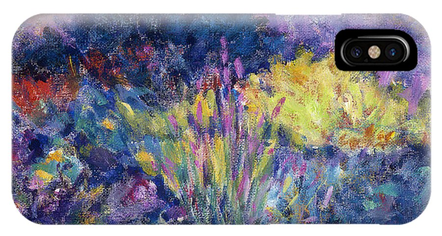Impressionism IPhone X Case featuring the painting Burst Of Color-last Night In Monets Gardens by Tara Moorman