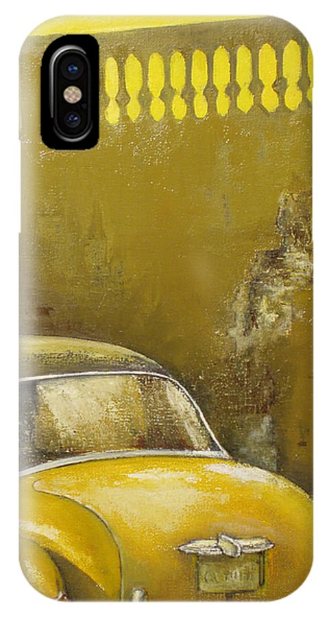 Havana IPhone X Case featuring the painting Buscando La Sombra by Tomas Castano
