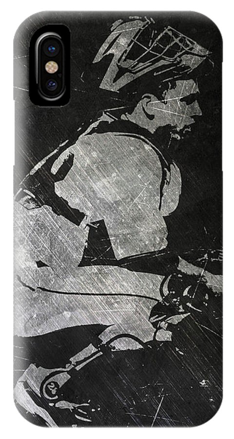 Buster Posey IPhone X Case featuring the painting Buster Posey San Francisco Giants Art by Joe Hamilton