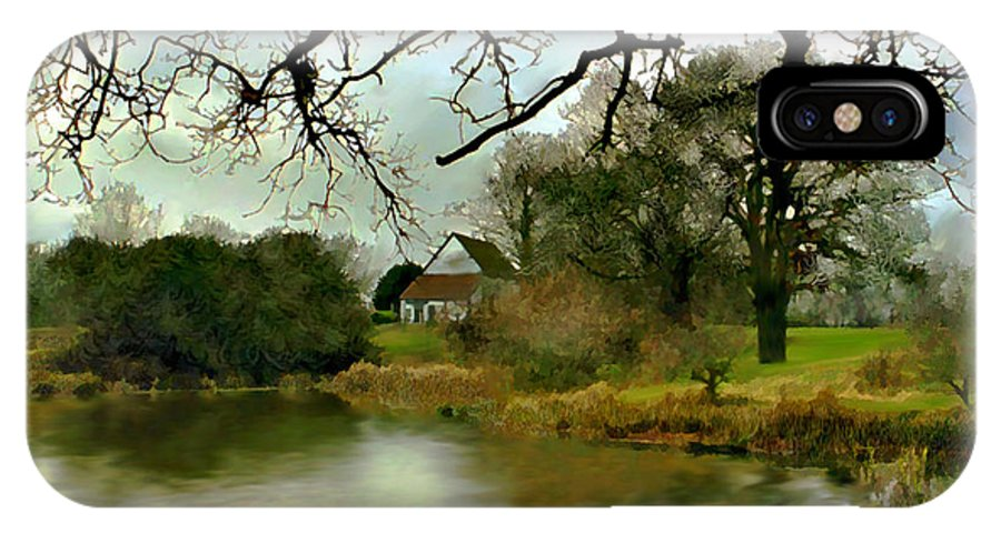 England IPhone X Case featuring the photograph Butlers Retreat Epping Forest Uk by Kurt Van Wagner