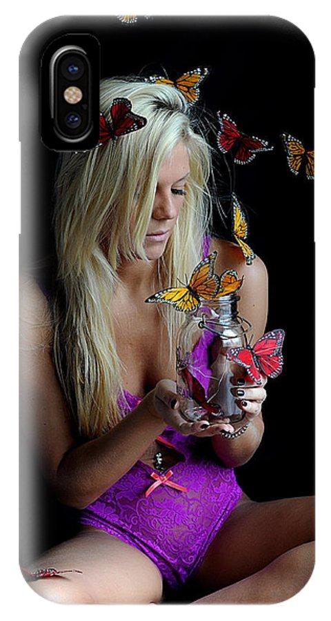 Butterflies Morgan IPhone X Case featuring the photograph Butterflies Are Free by Bill Munster