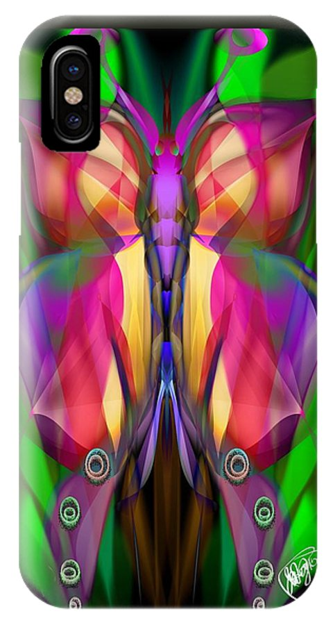 Butterfly IPhone X / XS Case featuring the digital art Butterfly by Aixa Olivo