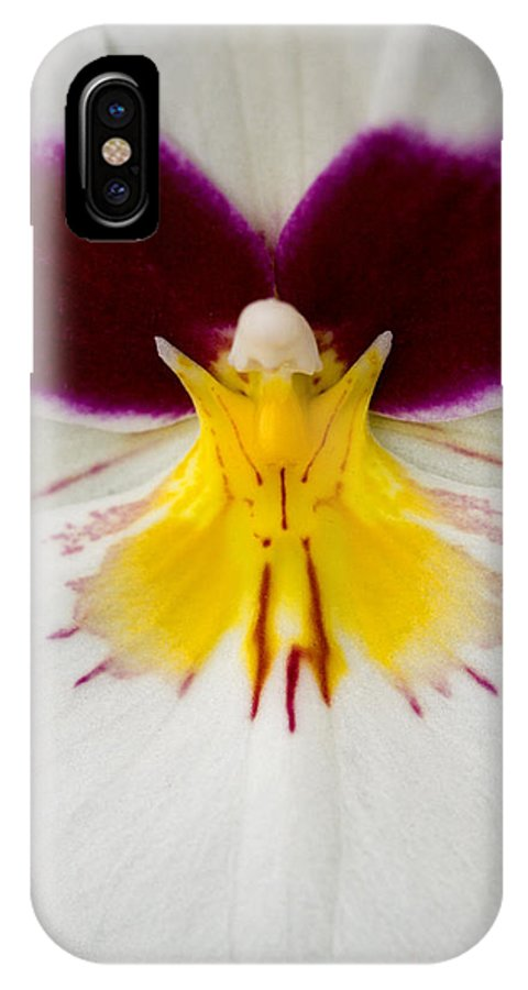 Orchid IPhone X Case featuring the photograph Butterfly by Karen Ulvestad