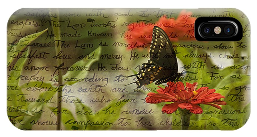 Flower IPhone X Case featuring the photograph Butterfly Notes by Trish Tritz
