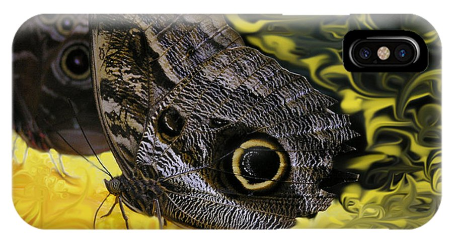 Butterfly IPhone X Case featuring the photograph Butterfly Reflections by Louise Magno