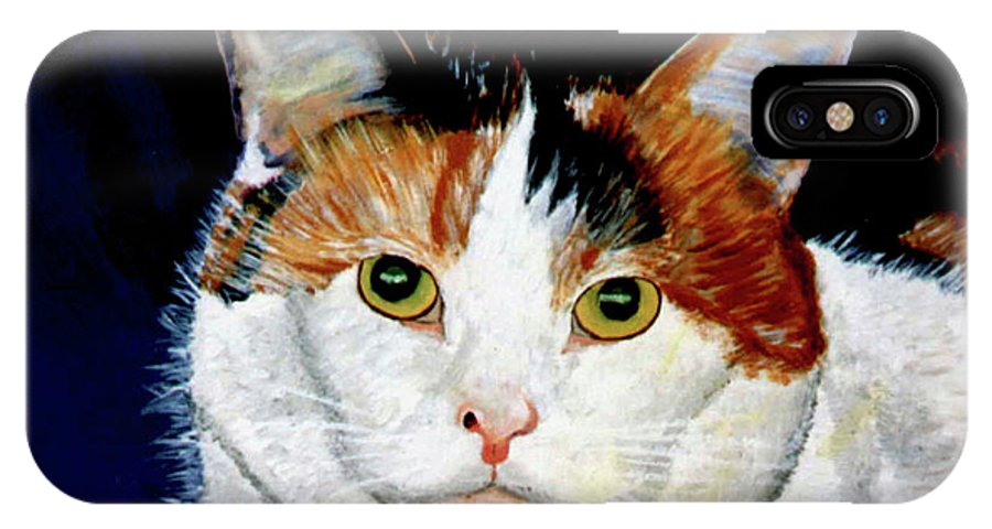 Cat IPhone Case featuring the painting Buttons by Stan Hamilton