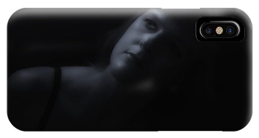 Black And White IPhone X Case featuring the photograph By Moonlight by Donna Blackhall