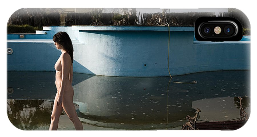 Nudes IPhone X Case featuring the photograph By The Old Pool by Olivier De Rycke
