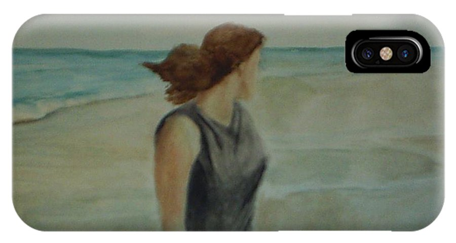 Ocean IPhone X Case featuring the painting By The Sea by Sheila Mashaw