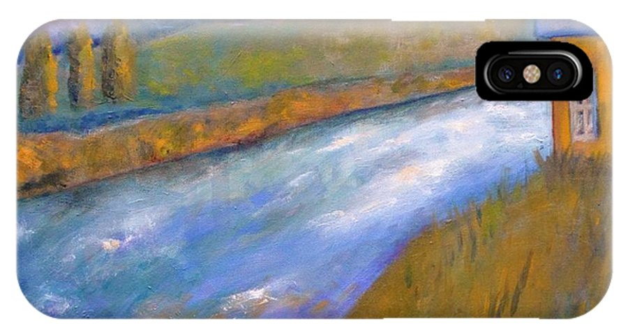 Oil Painting IPhone X Case featuring the painting By The Stream by Marla McPherson