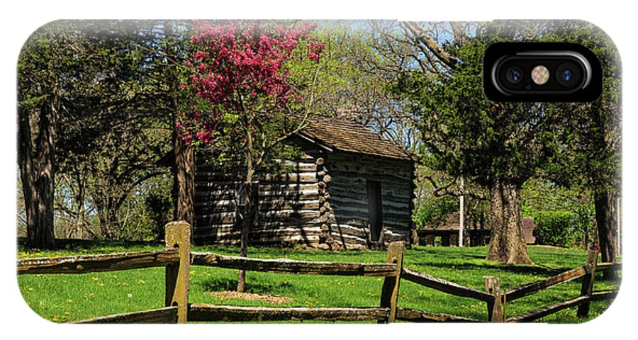 Cabin IPhone X / XS Case featuring the photograph Cabin In The Spring by Terri Morris