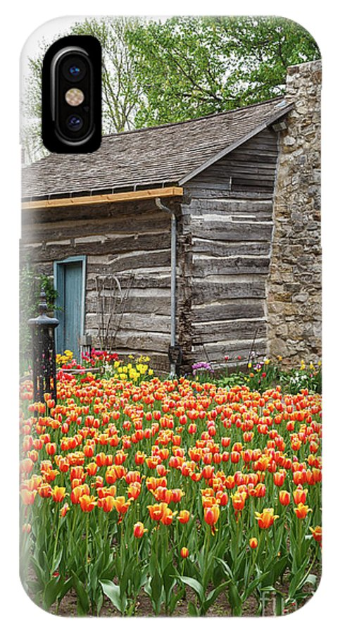 Tulips IPhone X / XS Case featuring the photograph Cabin In The Tulips by Terri Morris