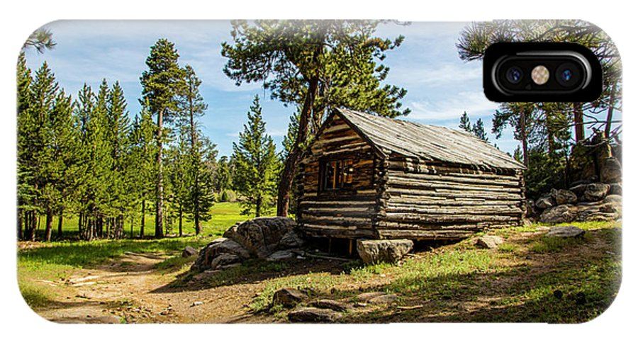 Cabin IPhone X Case featuring the photograph Cabin In The Woods by Janet Aguila Krause