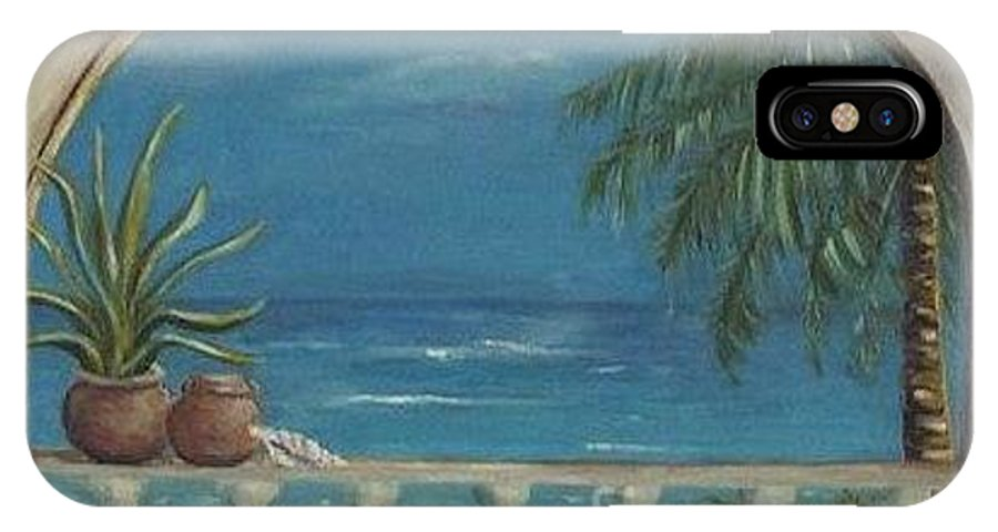 Landscape IPhone X Case featuring the painting Cabo Arch by Jeanie Watson