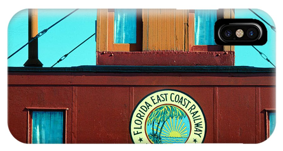 Florida Keys Train Railroad IPhone Case featuring the photograph Caboose by Carl Purcell