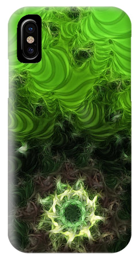 Cactus Abstract IPhone X Case featuring the digital art Cactus Abstract by Methune Hively