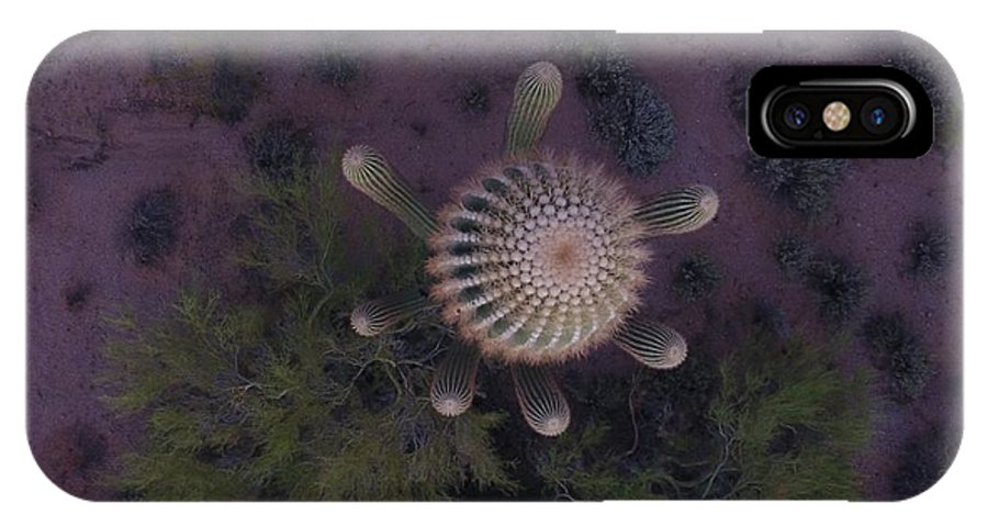 Cactus IPhone X Case featuring the digital art Cactus Eve by Steve Winden