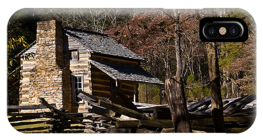 Cades IPhone Case featuring the photograph Cades Cove Cabin by Douglas Barnett