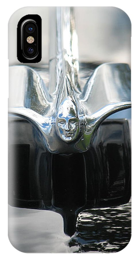 Cadillac IPhone X Case featuring the photograph Cadillac Angel by Kelly Mezzapelle