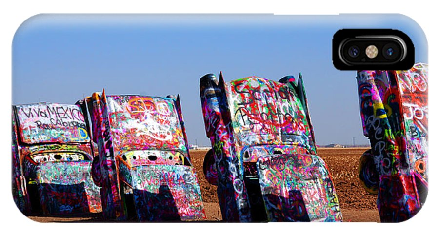 Photography IPhone X Case featuring the photograph Cadillac Ranch by Susanne Van Hulst