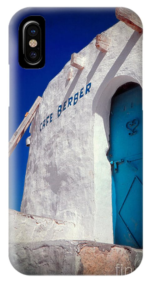 Tunisia IPhone X Case featuring the photograph Cafe Berber by Silvia Ganora