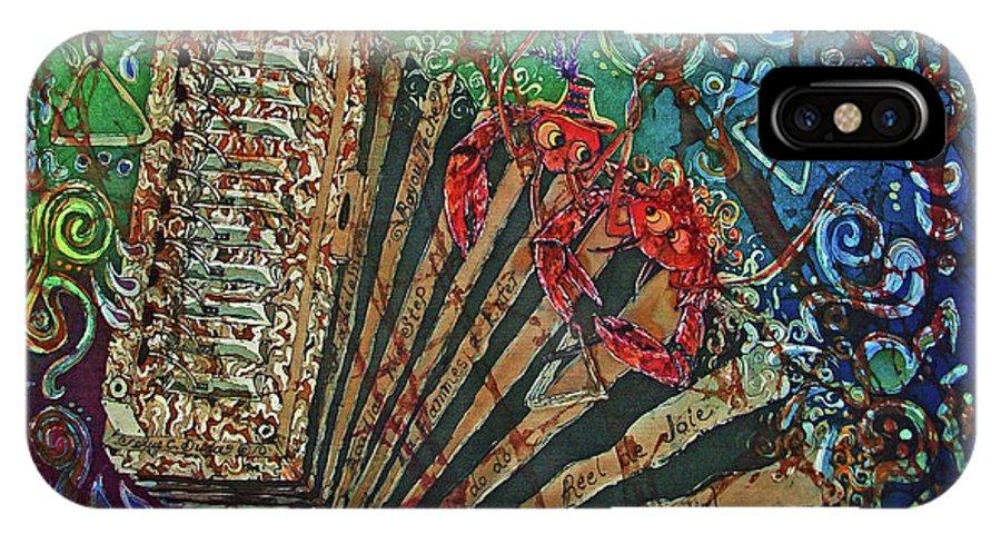 Cajun IPhone Case featuring the painting Cajun Accordian by Sue Duda