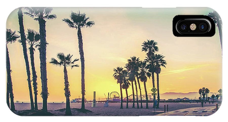 Los Angeles IPhone X Case featuring the photograph Cali Sunset by Az Jackson