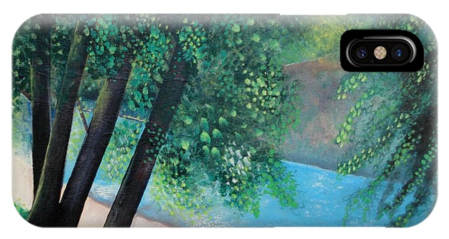 Landscape IPhone X Case featuring the painting California Magic by Helena Tiainen