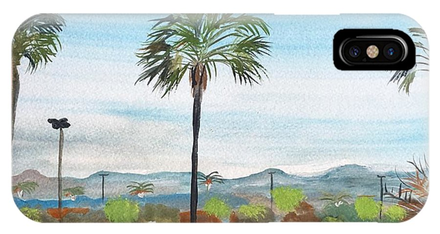 California Watercolour Painting By Artist Monika Howarth. IPhone X Case featuring the painting California Painting by Monika Howarth