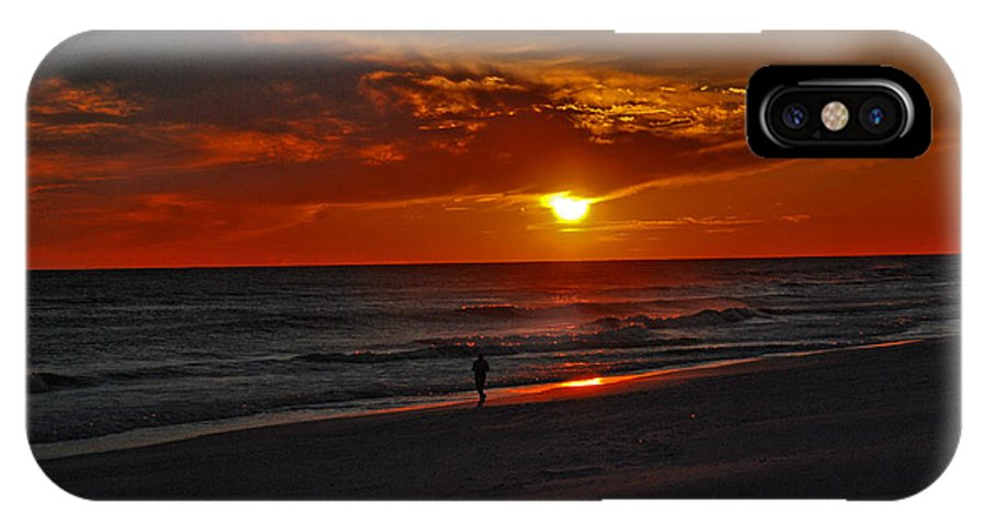 Sunset IPhone X Case featuring the photograph California Sun by Susanne Van Hulst