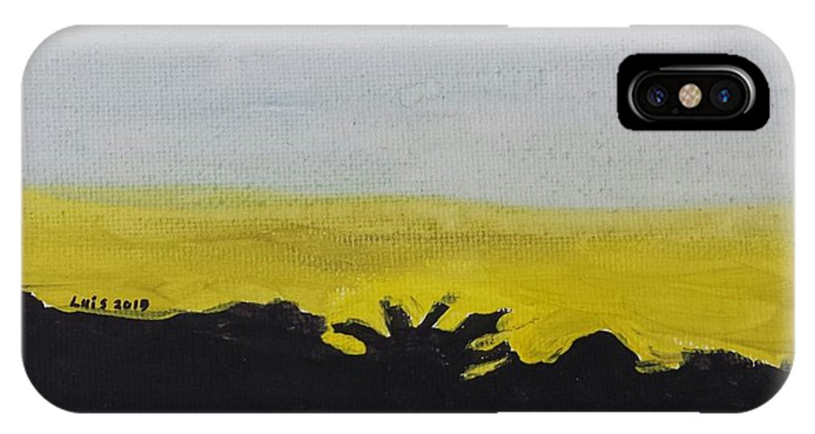 Landscape IPhone X Case featuring the painting California Sunset by Epic Luis Art