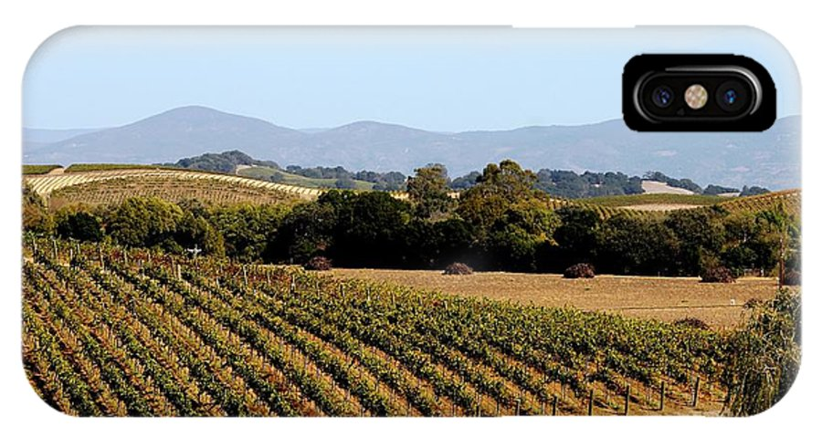 Vineyard IPhone X Case featuring the photograph California Vineyards by Charlene Reinauer