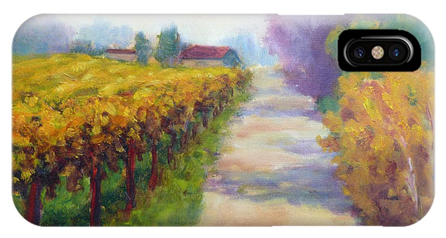 Sebastopol IPhone X Case featuring the painting California Wine Country by Carolyn Jarvis