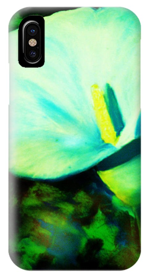 White Calla Lily IPhone X Case featuring the painting Calla Lily by Melinda Etzold