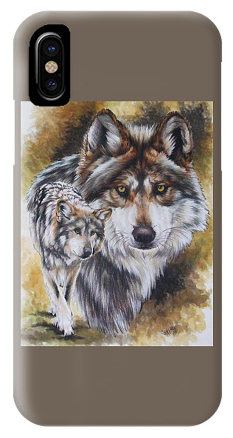 Wildlife IPhone X Case featuring the mixed media Callidity by Barbara Keith