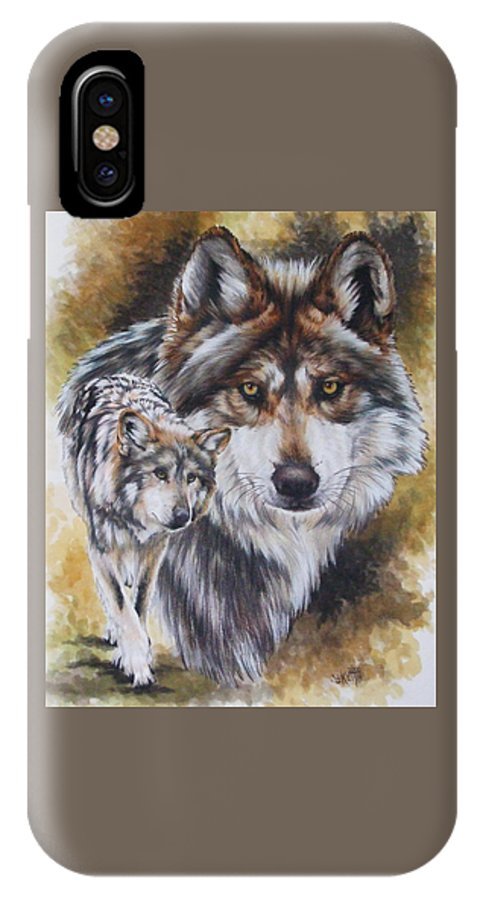 Wildlife IPhone Case featuring the mixed media Callidity by Barbara Keith