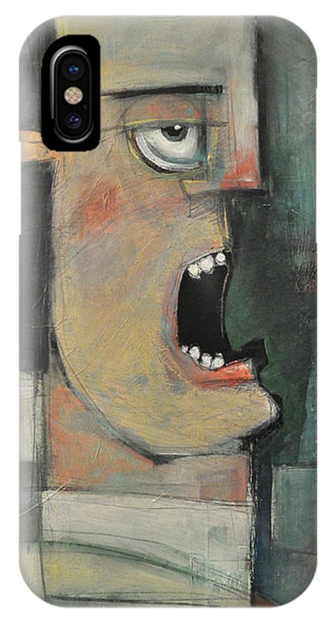 Man IPhone X / XS Case featuring the painting Calling The Play by Tim Nyberg