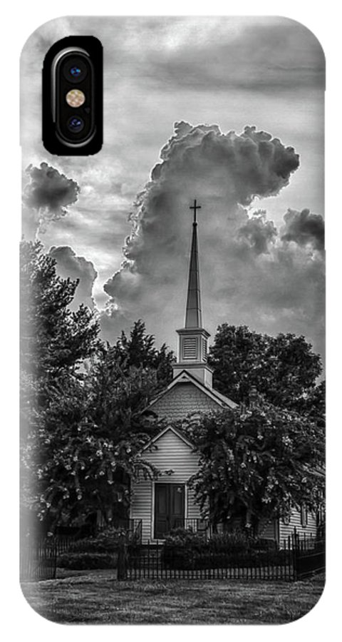 Church IPhone X Case featuring the photograph Calm Before The Storm by Guy Shultz