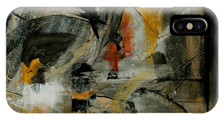 Abstract IPhone Case featuring the painting Calm Out Of Chaos by Ruth Palmer