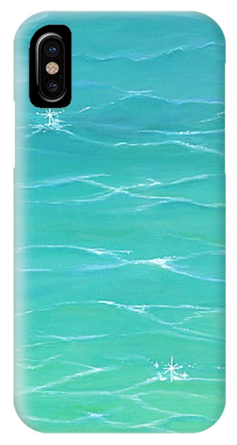 Water IPhone X / XS Case featuring the painting Calm Reflections II by Mary Scott