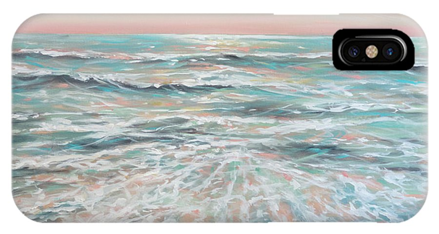 Ocean IPhone X Case featuring the painting Calm Seas by Linda Olsen