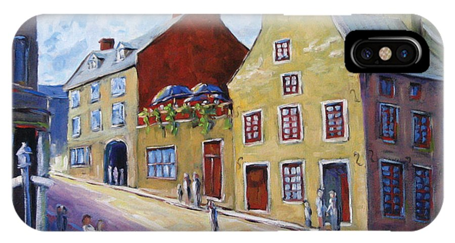 Rural IPhone X Case featuring the painting Calvet House Old Montreal by Richard T Pranke