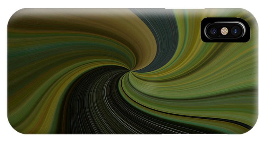 Abstract IPhone X Case featuring the digital art Camo Twist by Joshua Sunday