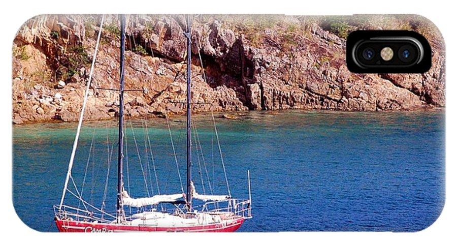 Sailboat IPhone X Case featuring the photograph Camrita by Debbi Granruth