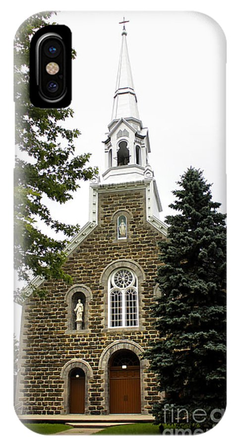 Church IPhone X Case featuring the photograph Canadian Rural Church by Deborah Benoit