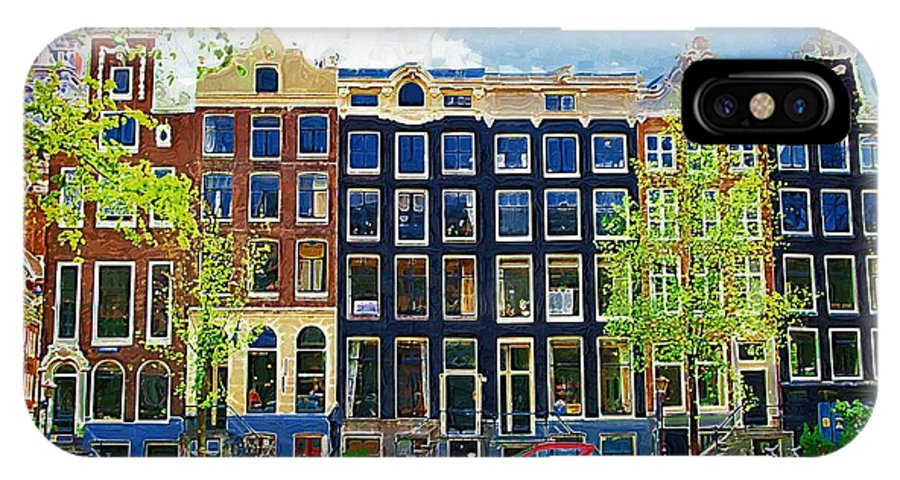 Amstersdam IPhone X Case featuring the photograph Canal Houses by Tom Reynen